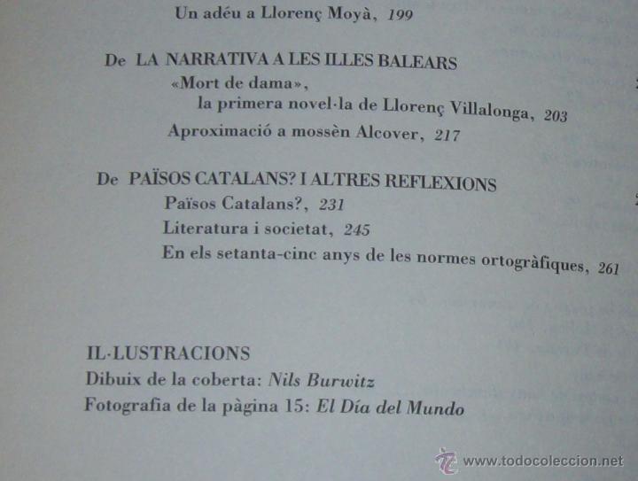 Libros de segunda mano: EL QUE VOLIA DIR-VOS.ANTOLOGIA.JOSEP M.LLOMPART. 1993.LLIBRE MOLT CERCAT.UNA JOIA!!!. VEURE FOTOS. - Foto 29 - 45762001