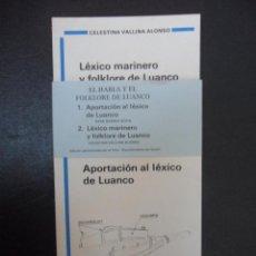 Libros de segunda mano: EL HABLA Y EL FOLKLORE DE LUANCO (2 LIBROS): 1.- APORTACION AL LEXICO DE LUANCO. POR SARA SUAREZ SOL. Lote 50392866
