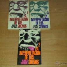 Libros de segunda mano: LA INTERPRETACION DE LOS SUEÑOS - TRILOGIA COMPLETA - SIGMUND FREUD. Lote 45928306