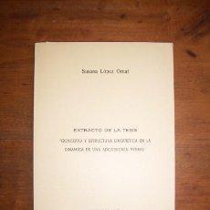 Libros de segunda mano: LÓPEZ ORNAT, SUSANA. CONCEPTO Y ESTRUCTURA LINGÜÍSTICA EN LA DINÁMICA DE UNA ADQUISICIÓN VERBAL :.... Lote 45940922