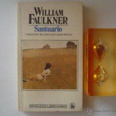 Libros de segunda mano: WILLIAM FAULKNER. SANTUARIO. EDITORIAL BRUGUERA 1982. 1A EDICIÓN. Lote 46228903