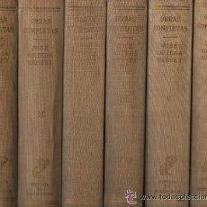 Libros de segunda mano: JOSÉ ORTEGA Y GASSET / OBRAS COMPLETAS ED. REVISTA DE OCCIDENTE 1955-1962 NUEVE TOMOS. Lote 46319801