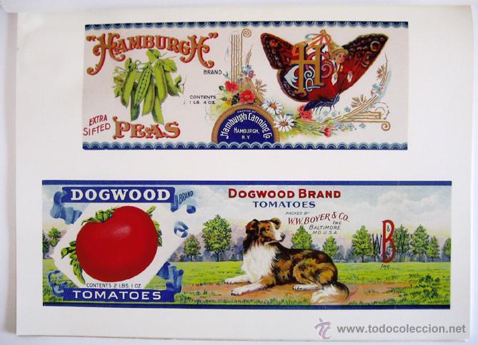 Libros de segunda mano: Gran libro sobre ANTIGUAS ETIQUETAS de productos de alimentación - En inglés - Primera edición, 1982 - Foto 3 - 46410289