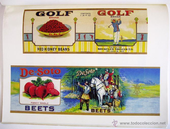 Libros de segunda mano: Gran libro sobre ANTIGUAS ETIQUETAS de productos de alimentación - En inglés - Primera edición, 1982 - Foto 5 - 46410289