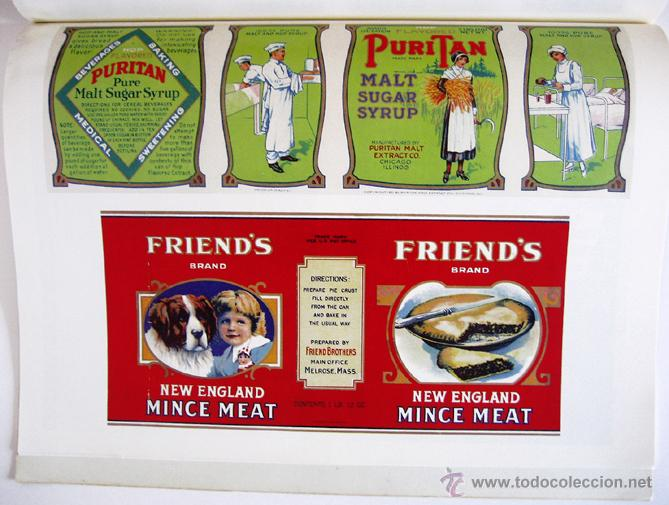 Libros de segunda mano: Gran libro sobre ANTIGUAS ETIQUETAS de productos de alimentación - En inglés - Primera edición, 1982 - Foto 7 - 46410289