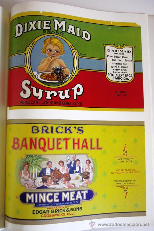 Libros de segunda mano: Gran libro sobre ANTIGUAS ETIQUETAS de productos de alimentación - En inglés - Primera edición, 1982 - Foto 8 - 46410289