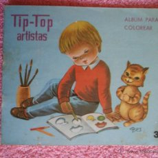 Libros de segunda mano: TIP TOP ARTISTAS 3 EDITORIAL ROMA 1970 ALBUM PARA COLOREAR ILUSTRADO POR CASES. Lote 46490990