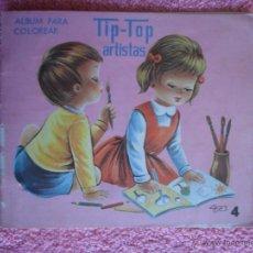 Libros de segunda mano: TIP TOP ARTISTAS 4 ROMA 1970 ALBUM PARA COLOREAR ILUSTRADO POR CASES. Lote 46490993