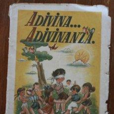 Libri di seconda mano: ADIVINA ADIVINANZA – EDITORIAL MAGISTERIO ESPAÑOL MADRID – SPIEGELBERG Y HORNO. Lote 46518000