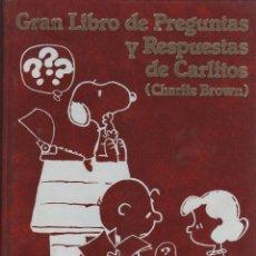 Libros de segunda mano: GRAN LIBRO DE PREGUNTAS Y RESPUETAS DE CARLITOS (CHARLIE BROWN). 6 TOMOS. Lote 46595198