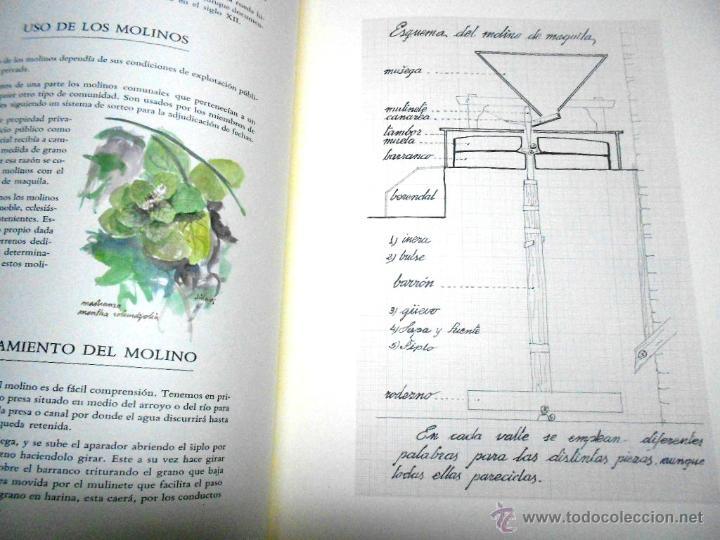 Libros de segunda mano: MOLINOS DE AGUA Y MAQUILA POR MANUEL GARCIA LINARES 1988, prol. Julio Caro Baroja, Dedicatoria autor - Foto 6 - 46693930