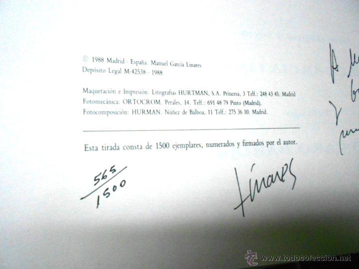 Libros de segunda mano: MOLINOS DE AGUA Y MAQUILA POR MANUEL GARCIA LINARES 1988, prol. Julio Caro Baroja, Dedicatoria autor - Foto 15 - 46693930