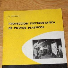 Libros de segunda mano: PROYECCIÓN ELECTROSTÁTICA DE POLVOS PLÁSTICOS. H. NICOLAS. CEDEL, 1966.. Lote 46721386
