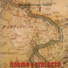 Livres d'occasion: JULIO BORREGO NIETO, NORMA Y DIALECTO EN EL SAYAGUÉS ACTUAL, 1983. FILOLOGÍA. Lote 47045610