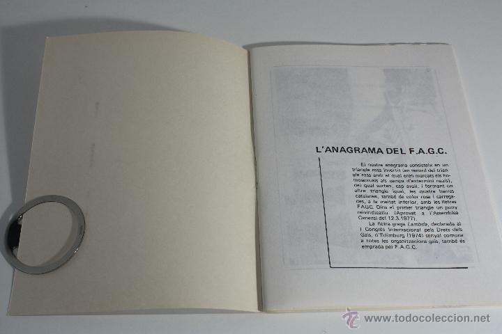 Libros de segunda mano: MANIFEST FAGC (FRONT D' ALLIBERAMENT GAI DE CATALUNYA) 1977 - Foto 4 - 47106811