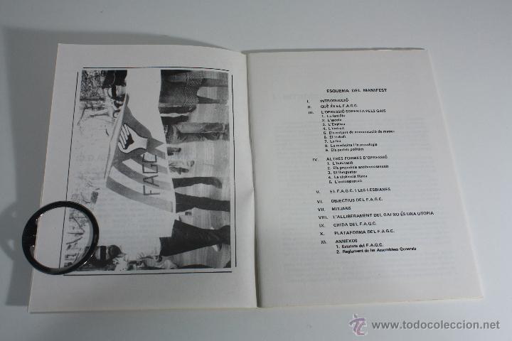 Libros de segunda mano: MANIFEST FAGC (FRONT D' ALLIBERAMENT GAI DE CATALUNYA) 1977 - Foto 5 - 47106811