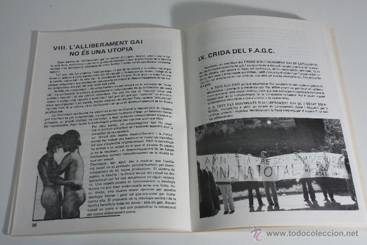 Libros de segunda mano: MANIFEST FAGC (FRONT D' ALLIBERAMENT GAI DE CATALUNYA) 1977 - Foto 8 - 47106811
