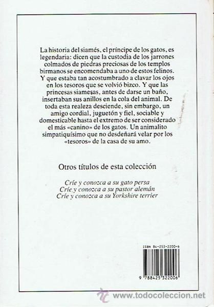Libros de segunda mano: GATO SIAMÉS Y ORIENTAL MAIA BELTRAME - Foto 2 - 47129684
