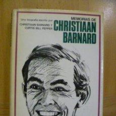 Libros de segunda mano: MEMORIAS DE CHRISTIAAN BERNARD. Lote 47259494