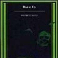 Libros de segunda mano: MISTERIO BUFO. DARIO FO. . Lote 47354447