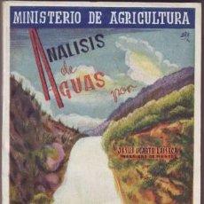Libros de segunda mano: UGARTE LAISECA, JESÚS: ANALISIS DE AGUAS. . Lote 47376251