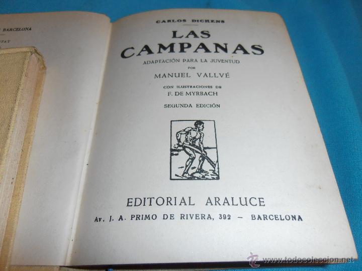 Libros de segunda mano: LAS CAMPANAS, COLECCION ARALUCE, Nº 78 - Foto 4 - 47418769