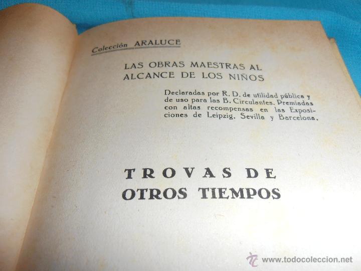 Libros de segunda mano: TROVAS DE OTROS TIEMPOS, COLECCION ARALUCE, Nº 48 - Foto 3 - 47418818