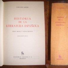 Libros de segunda mano: ALBORG, JUAN LUIS. HISTORIA DE LA LITERATURA ESPAÑOLA. I : EDAD MEDIA Y RENACIMIENTO. Lote 47447698