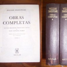 Libros de segunda mano: SHAKESPEARE, WILLIAM. OBRAS COMPLETAS. Lote 47447782