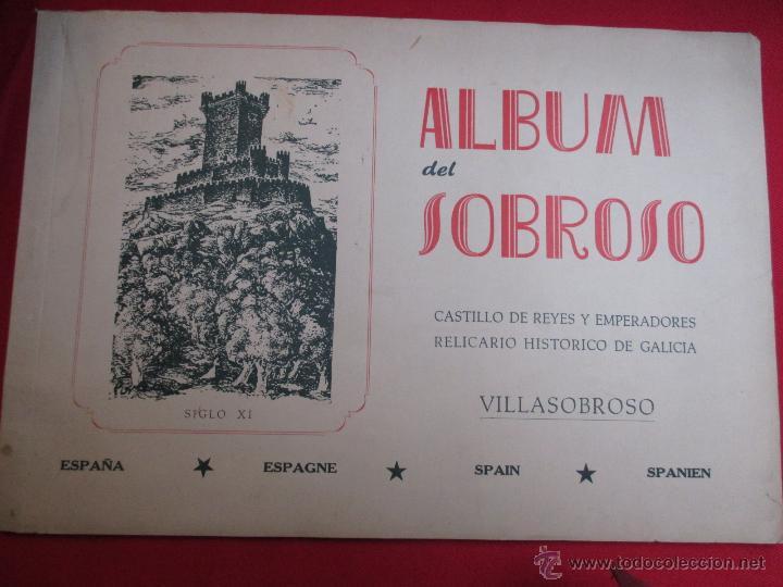 ALBUM DEL SOBROSO - CASTILLO DE VILLASOBROSO -1965 30PP, 31X22CM, PLENO FOTOS B/N + INFO (Libros de Segunda Mano - Bellas artes, ocio y coleccionismo - Otros)