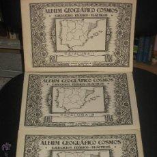 Libros de segunda mano - ALBÚM GEOGRÁFICO COSMOS EJERCICIOS TEORICO - PRACTICOS CATALUÑA I, II, Y III - 47661947