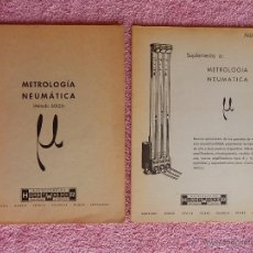 Libros de segunda mano: METROLOGIA METODO SOLEX EDITORIAL GRAFESA 1961 ANTONIO CASAS AROLES + SUPLEMENTO NEUMATICA. Lote 47691100