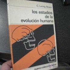 Libros de segunda mano: LOS ESTADIOS DE LA EVOLUCION HUMANA, BRACE, LORING , LABOR. Lote 47760680
