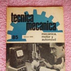 Libros de segunda mano: TÉCNICA MECÁNICA 85 CEAC 1966 MECÁNICA MOTOR Y AUTOMOVILES. Lote 47811857