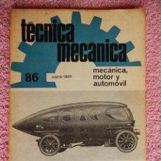 Libros de segunda mano: TÉCNICA MECÁNICA 86 EDICIONES CEAC 1966 MECÁNICA MOTOR Y AUTOMOVILES. Lote 47811921