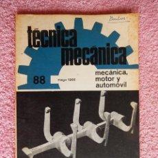 Libros de segunda mano: TÉCNICA MECÁNICA 88 EDICIONES CEAC 1966 MECÁNICA MOTOR Y AUTOMOVILES. Lote 47812047