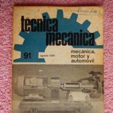 Libros de segunda mano: TÉCNICA MECÁNICA 91 EDICIONES CEAC 1966 MECÁNICA MOTOR Y AUTOMOVILES. Lote 47812167