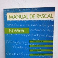 Libros de segunda mano: MANUAL DE PASCAL. Lote 47863201