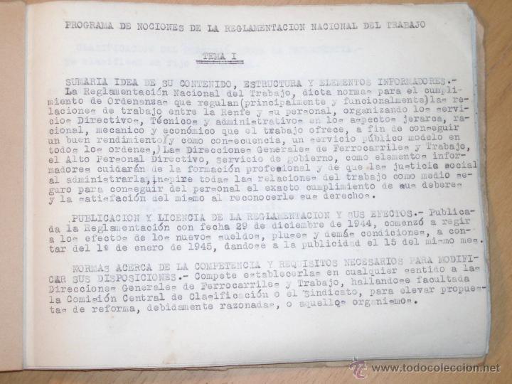 Libros de segunda mano: Reglamentación RENFE, definiciones, salarios etc... - Foto 2 - 47961203