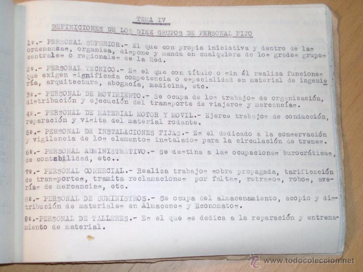Libros de segunda mano: Reglamentación RENFE, definiciones, salarios etc... - Foto 3 - 47961203