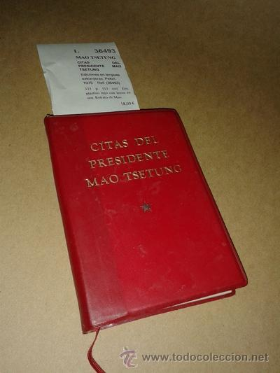 CITAS DEL PRESIDENTE MAO TSETUNG - MAO TSETUNG (Libros de Segunda Mano - Pensamiento - Otros)