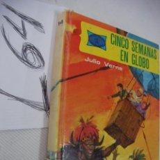 Libros de segunda mano: CINCO SEMANAS EN GLOBO - JULIO VERNE . Lote 48223313