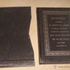 Libros de segunda mano: MEMORIA SOBRE EL ORIGEN DEL CAMINO DE BURGOS A BERCEDO, FACSIMIL IMPECABLE. Lote 48271232