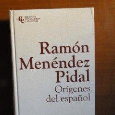 Libros de segunda mano: ORÍGENES DEL ESPAÑOL - MENÉNDEZ PIDAL, RAMÓN. Lote 48303416