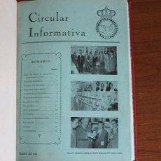 Libros de segunda mano: CIRCULAR INFORMATIVA. REAL SOCIEDAD COLOMBOFILA DE CATALUÑA. ENERO A DICIEMBRE DE 1954. COLOMBOFILIA. Lote 48449296