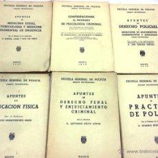Libros de segunda mano: ESCUELA GENERAL DE POLICIA. GRADO PROFESIONAL, 6 LIBROS: MEDICINA LEGAL Y TOXICOLOGÍA, PSICOLOGÍA ... Lote 48524465