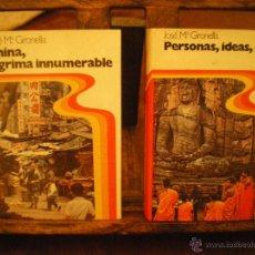 Libros de segunda mano: JOSE MARIA GIRONELLA-CHINA,LÁGRIMA INNUMERABLE Y PERSONAS,IDEAS ,MARES. Lote 48545713