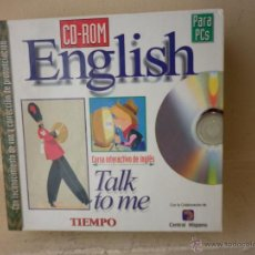 Libros de segunda mano: CURSO DE INGLÉS CD-ROM TALK TO ME CURSO INTERACTIVO DE INGLÉS COMPLETO. Lote 48598147