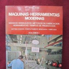 Libros de segunda mano: MAQUINAS-HERRAMIENTAS MODERNAS. MARIO ROSSI. VOL I. HOEPLI 1971. METALURGIA, FUNDICIÓN, ETC.. Lote 48690911