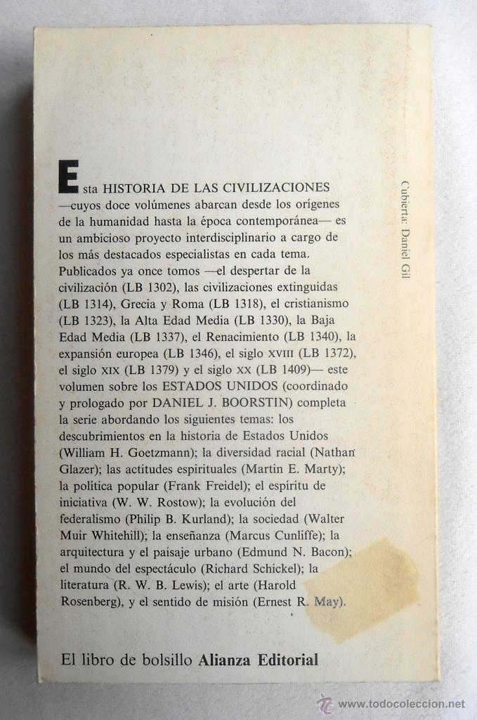 Libros de segunda mano: HISTORIA DE LAS CIVILIZACIONES 12. ESTADOS UNIDOS - DANIEL J. BOORSTIN (DIRECTOR) - Foto 2 - 48819295